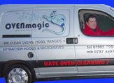 The OvenMagic van complete with everything we need to clean your oven, AGA or Range.